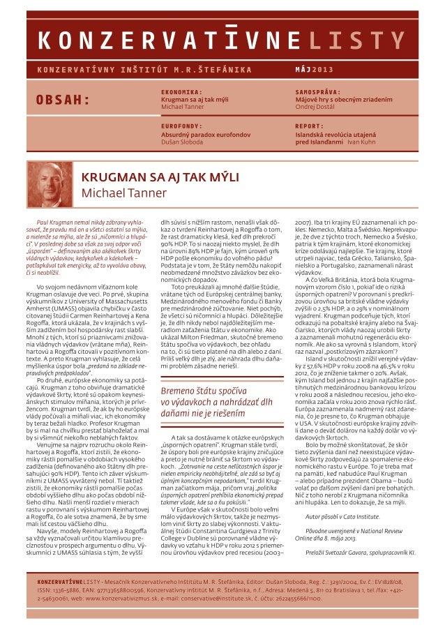 Konzervatívne listy /máj 2013/
