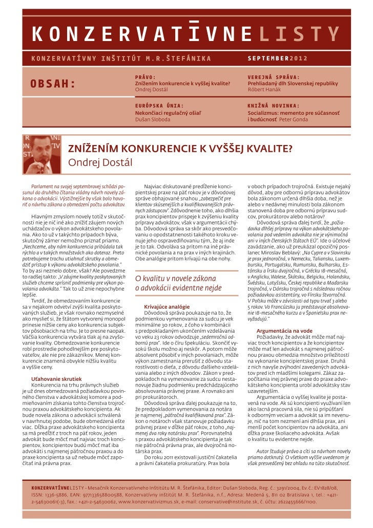 Konzervatívne listy /september 2012/
