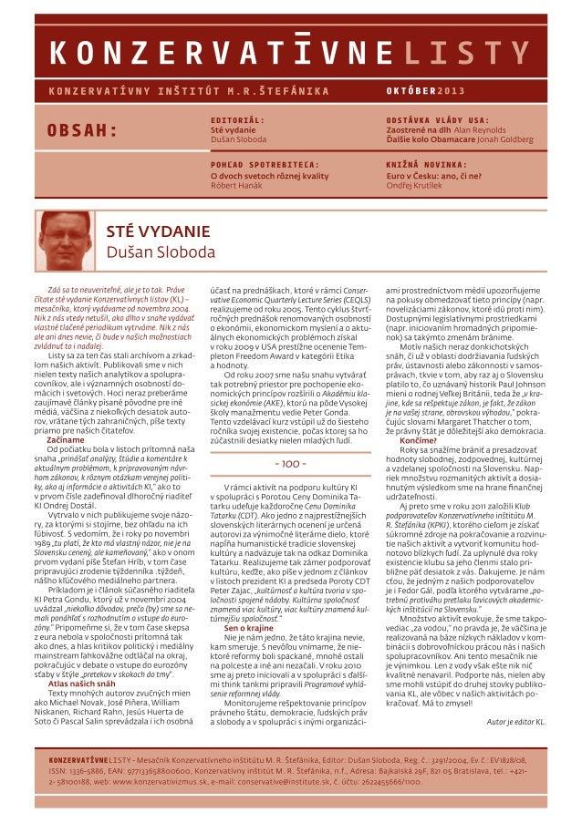 Konzervatívne listy /október 2013/