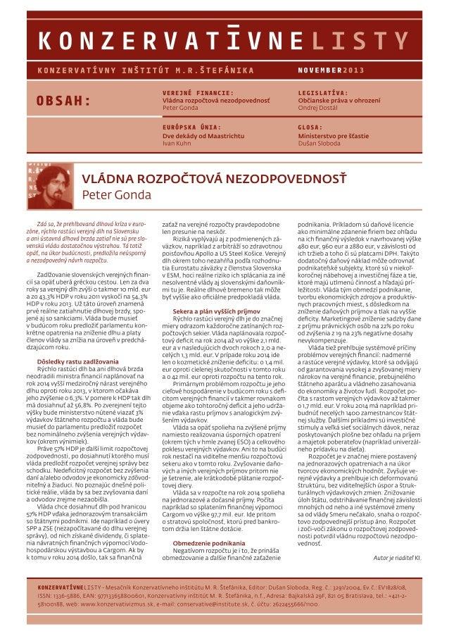 Konzervatívne listy /november 2013/