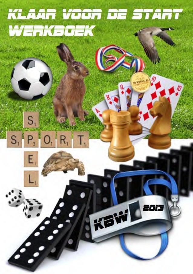 Klaar voor de start werkboek over sport en spel voor kinderboekenweek 2013 goochelaar Aarnoud Agricola