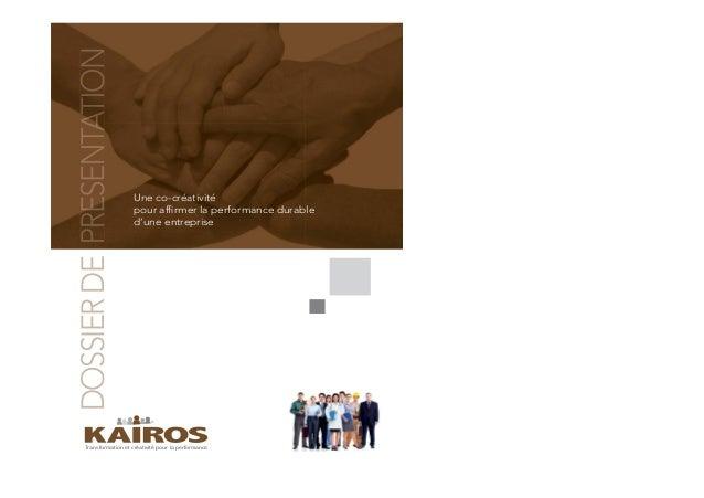 Transformation et créativité pour la performance Une co-créativité pour affirmer la performance durable d'une entreprise DO...