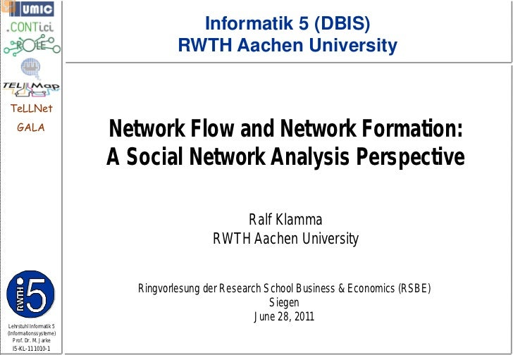 Network Flow and Network Formation: A Social Network Analysis Perspective