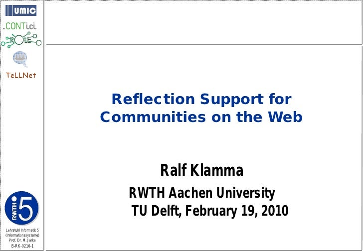 TeLLNet                             Reflection Support for                          Communities on the Web                ...