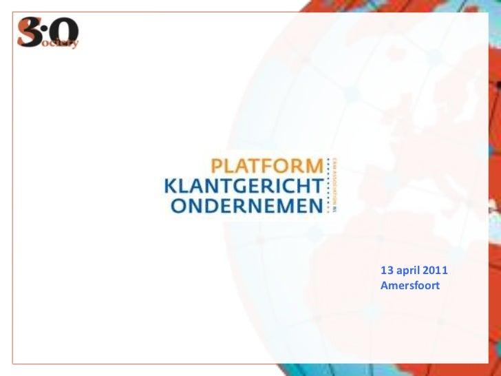13 april 2011<br />Amersfoort<br />22 RETWEETS<br />19.000 CONTACTS<br />