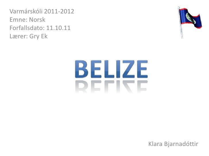 Varmárskóli 2011-2012Emne: NorskForfallsdato: 11.10.11Lærer: Gry Ek                         Klara Bjarnadóttir