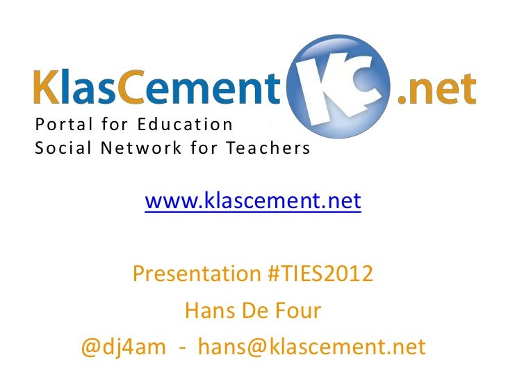 KlasCement: Educational social network with OER content