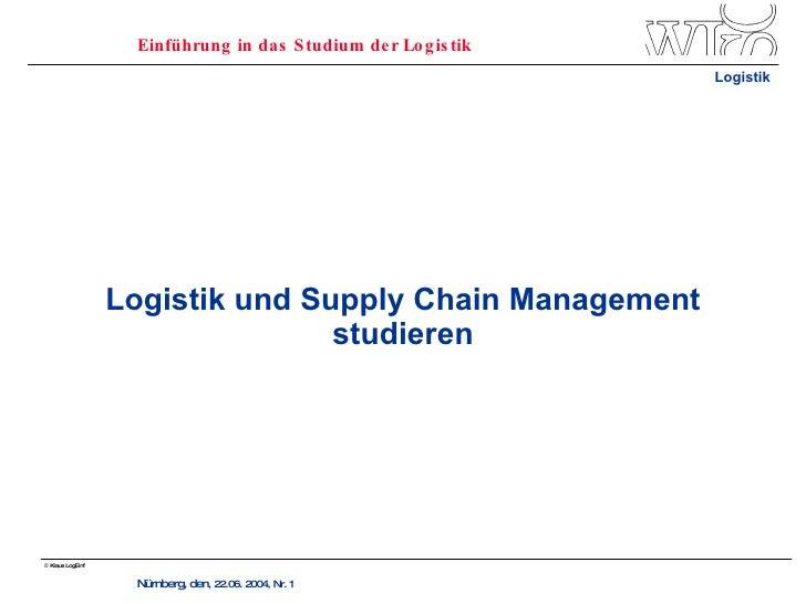 Logistik und Supply Chain Management studieren