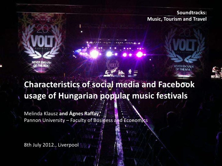 Characteristics of social media and Facebook usage of Hungarian popular music festivals