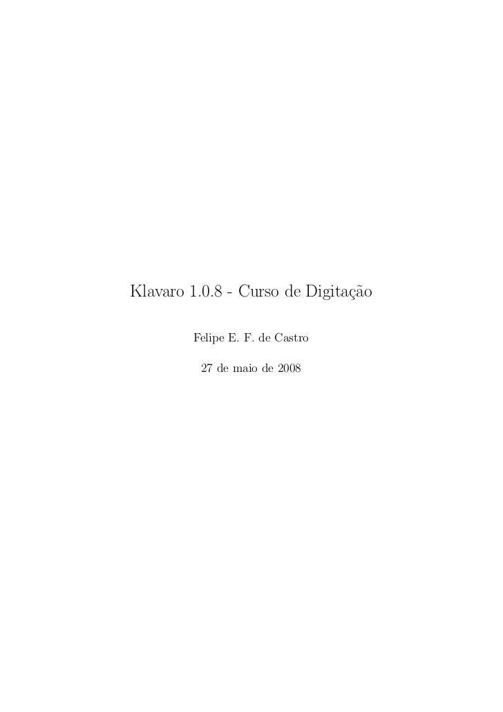 Klavaro manual-pt-1.0.8