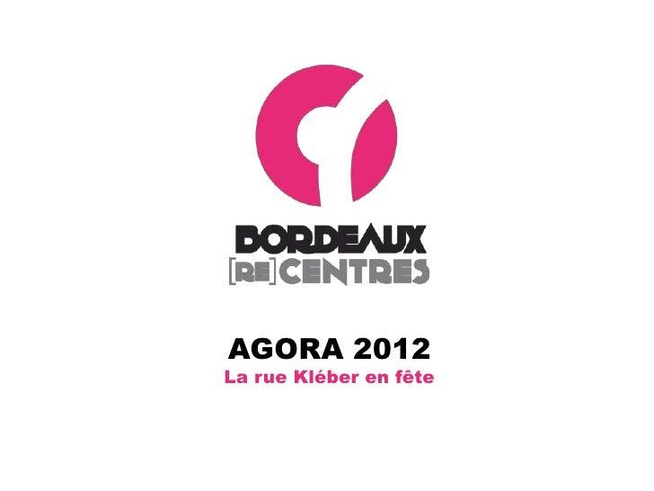 AGORA 2012La rue Kléber en fête