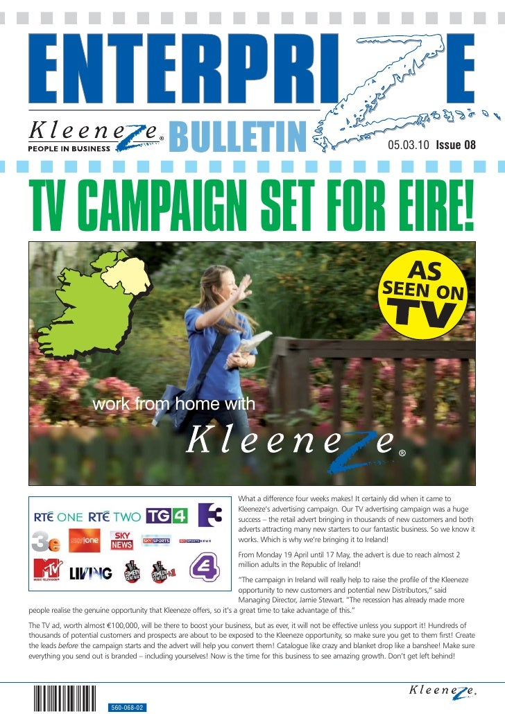 BULLETIN                                                                  05.03.10 Issue 08     TV CAMPAIGN SET FOR EIRE! ...