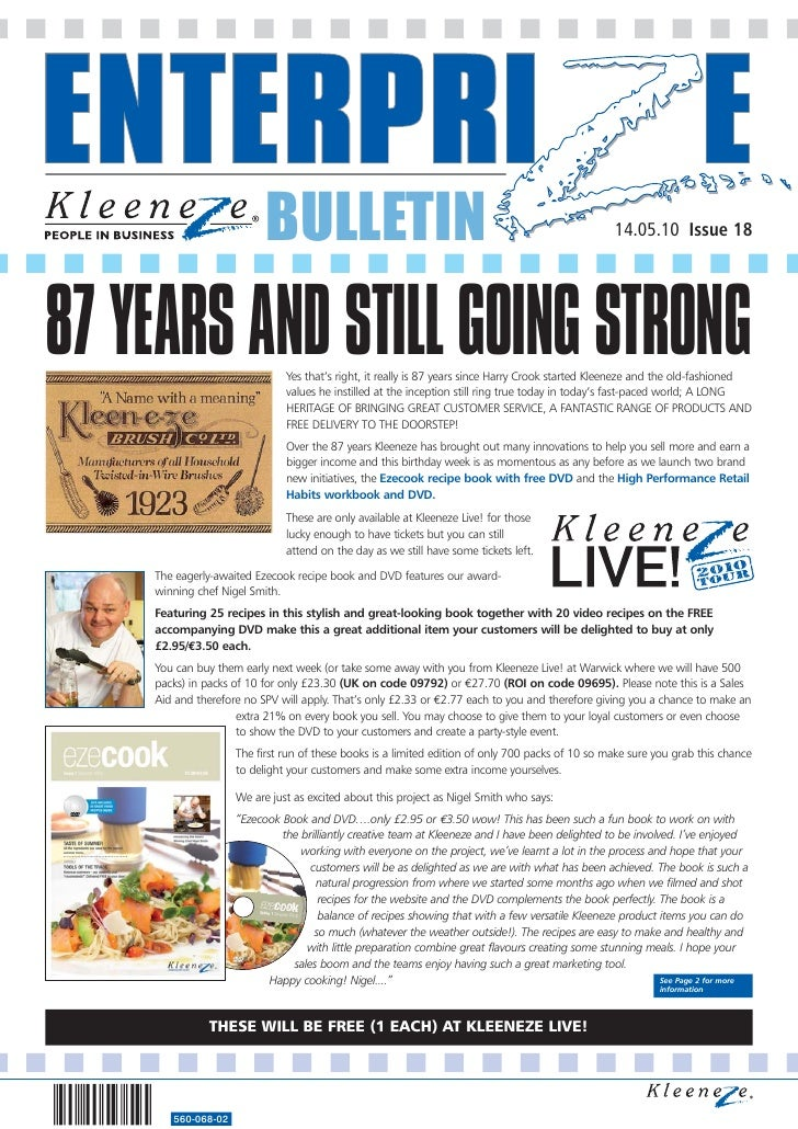 BULLETIN                                                                 14.05.10 Issue 18     87 YEARS AND STILL GOING ST...