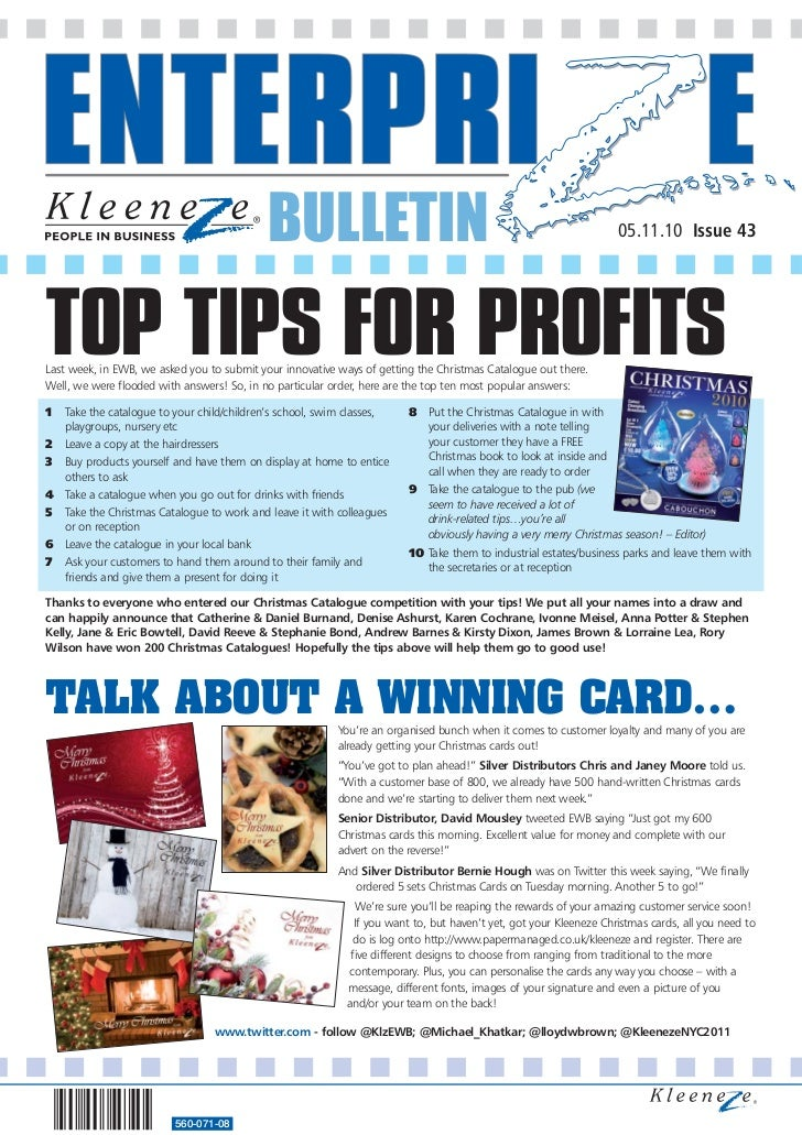 BULLETIN                                                                05.11.10 Issue 43TOP TIPS FOR PROFITSLast week, in...