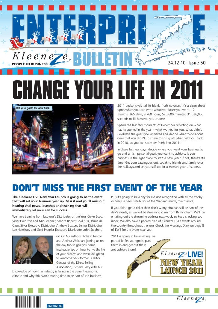 BULLETIN                                                                24.12.10 Issue 50CHANGE YOUR LIFE IN 2011  Set you...