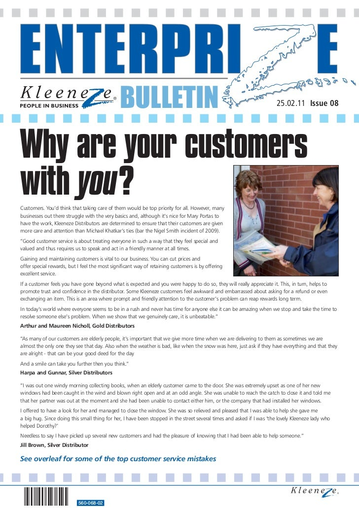 BULLETIN                                                                25.02.11 Issue 08Why are your customerswith you?Cu...