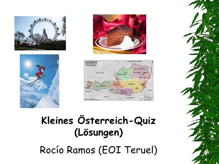 Kleines Österreich-Quiz (Lösungen) Rocío Ramos (EOI Teruel)