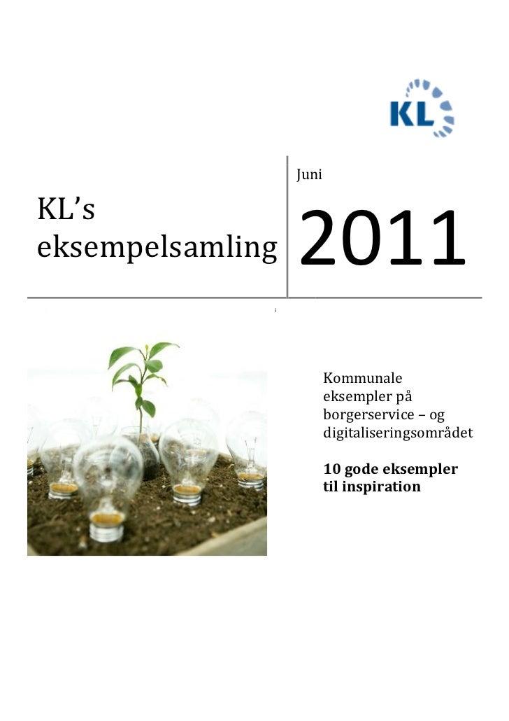 JuniKL'seksempelsamling   2011              i                         Kommunale                         eksempler på      ...