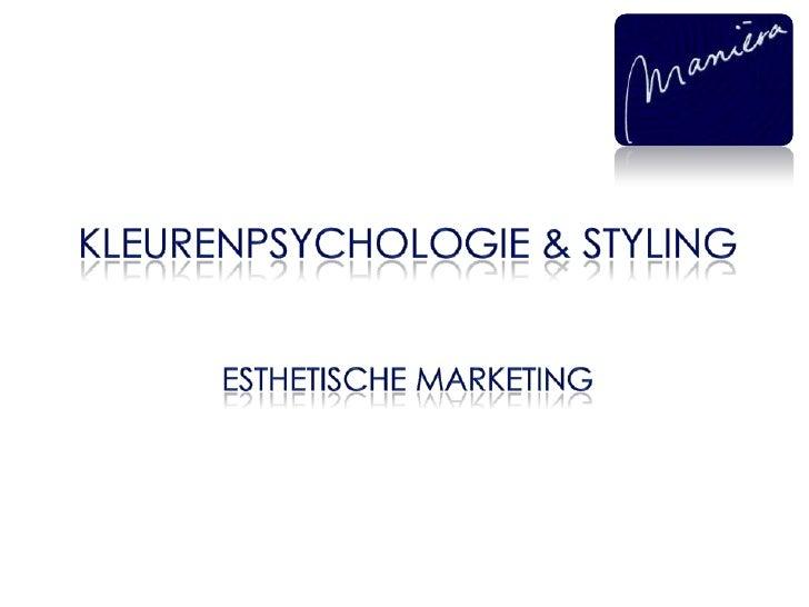 Kleurenpsychologie en styling  sneak peer insperience