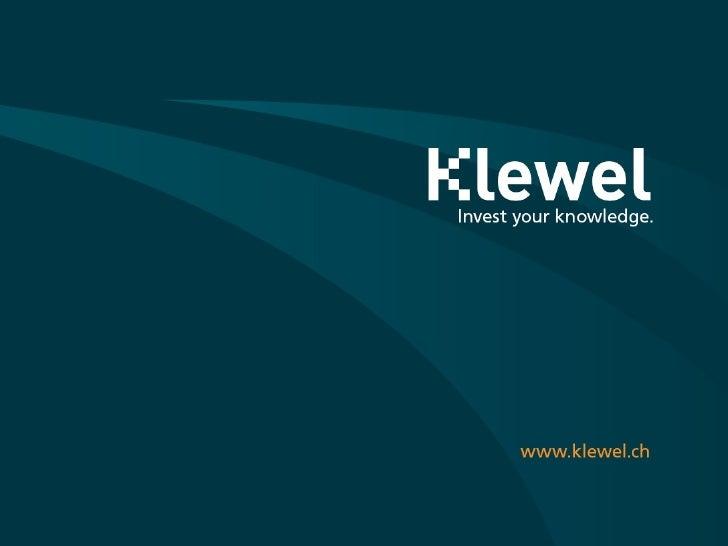 Klewel Brochure 2008