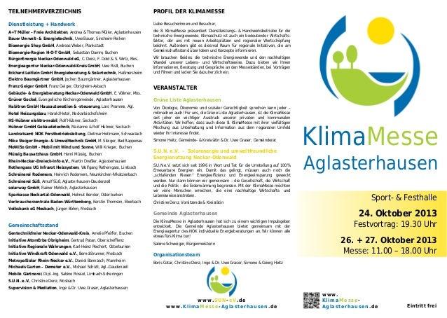 8. Klima Messe Aglasterhausen 2013