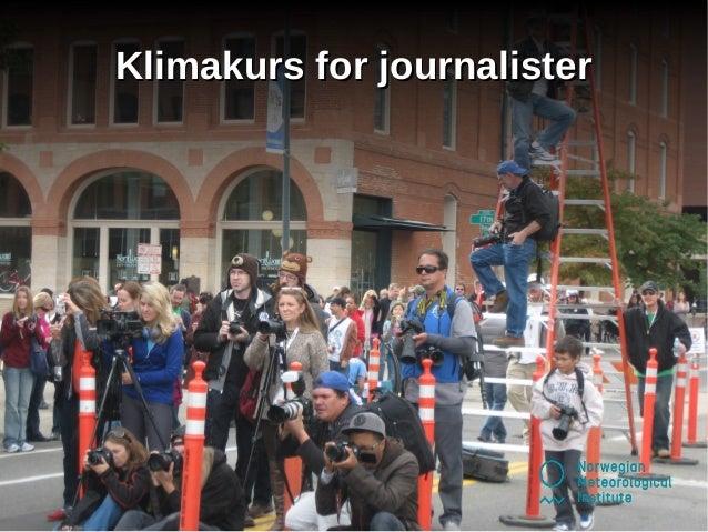 Klimakurs for journalister