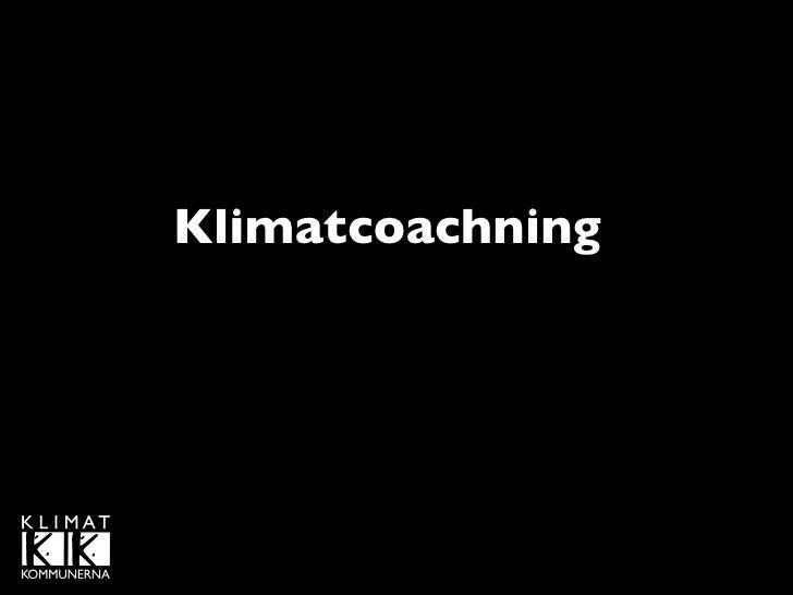 Klimatcoachning