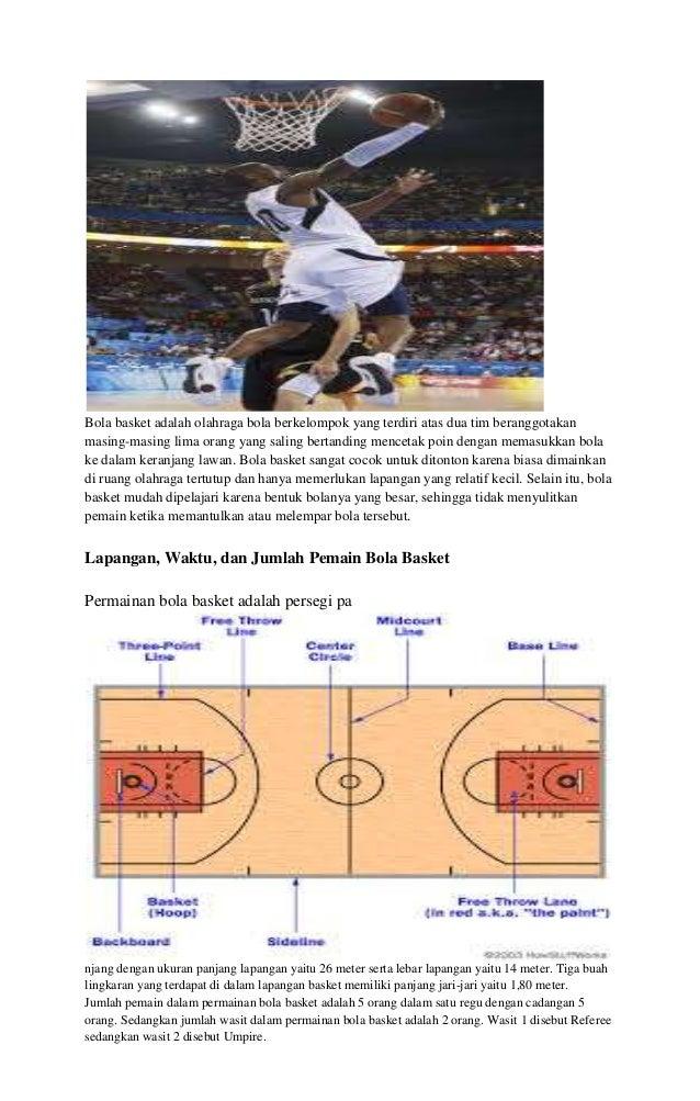 Bola basket adalah olahraga bola berkelompok yang terdiri atas dua tim beranggotakan masing-masing lima orang yang saling ...