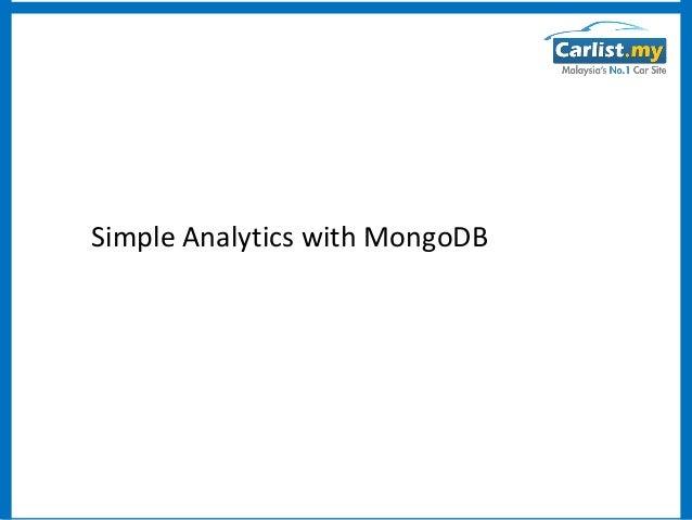 Klmug presentation - Simple Analytics with MongoDB