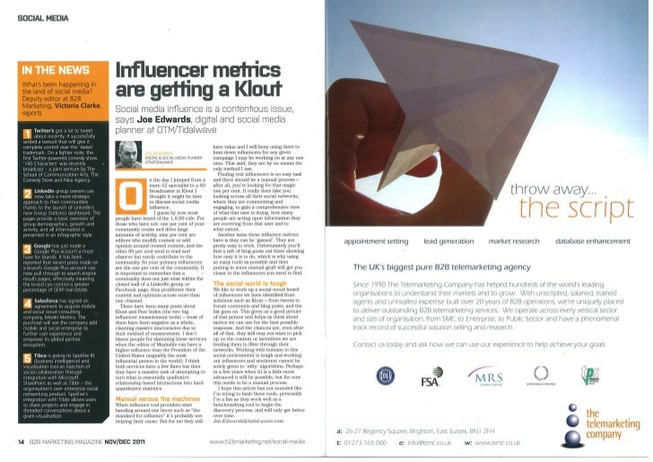 Influencer metrics are getting a Klout