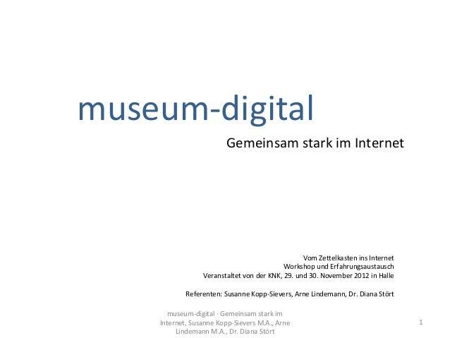 museum-digital: Gemeinsam stark im Internet