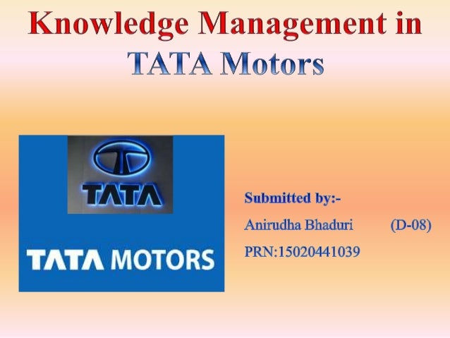 management information system of tata motors