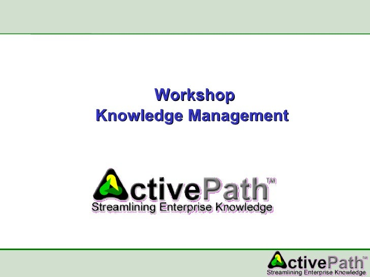 Workshop Knowledge Management