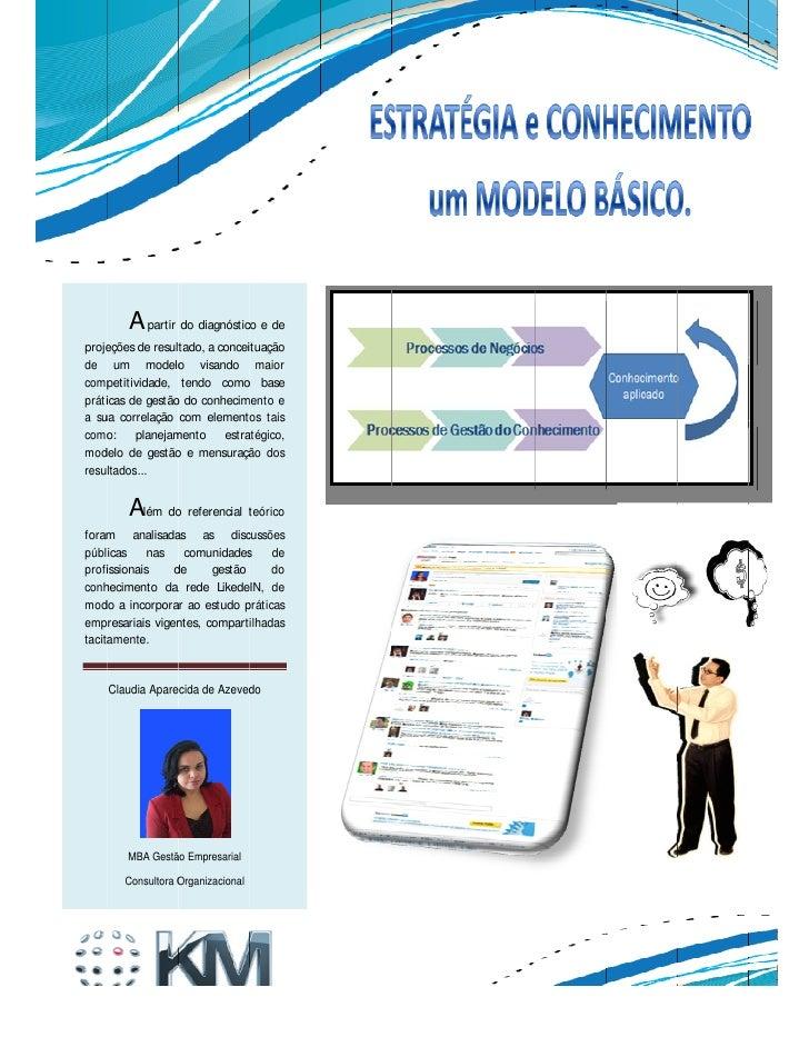 KM Brasil 2011 Estratégia e Conhecimento um Modelo Básico