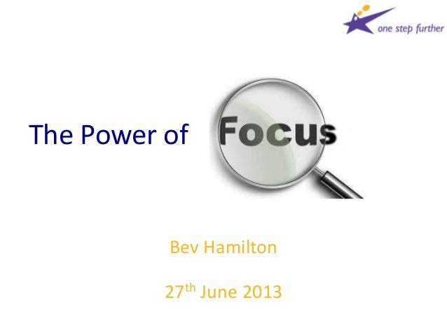 The Power of Focus 270613
