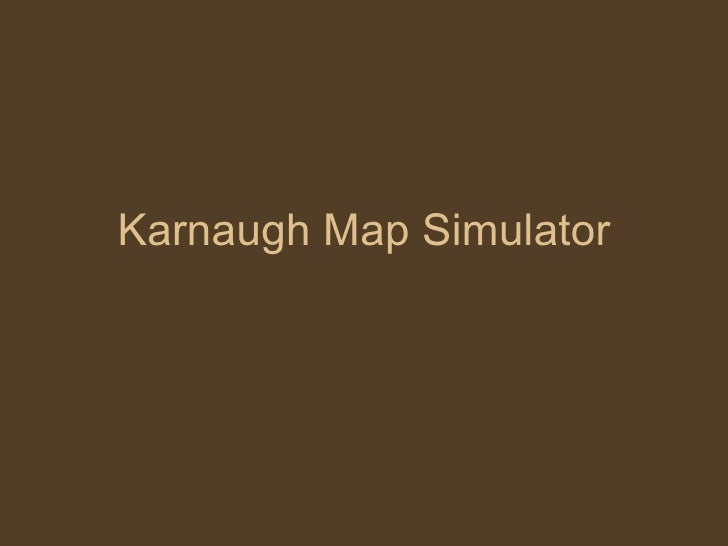 K Map Simulator (simulador de Mapa de Karnaugh)