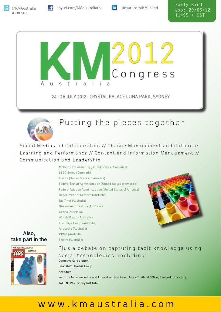 KM Australia 2012 Congress