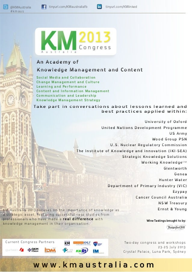 Knowledge Management Australia 2013