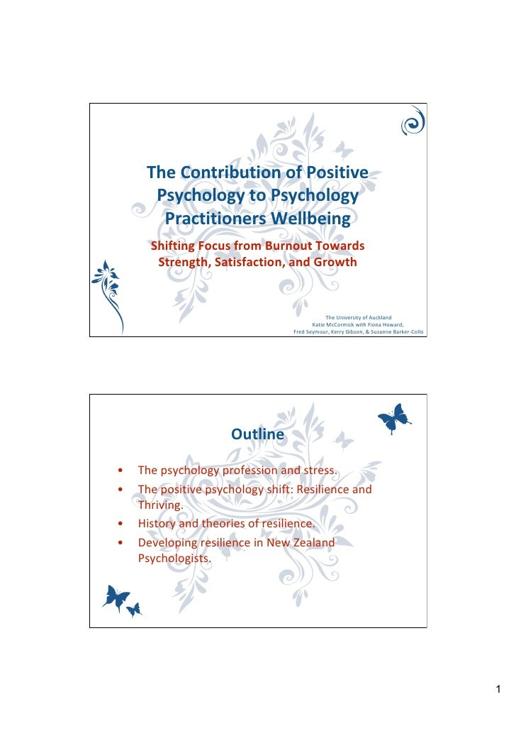 K Mc Cormick, The contribution of positive psychology to psychology practitioners wellbeing