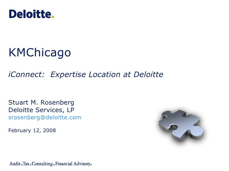 iConnect: Expertise Location at Deloitte