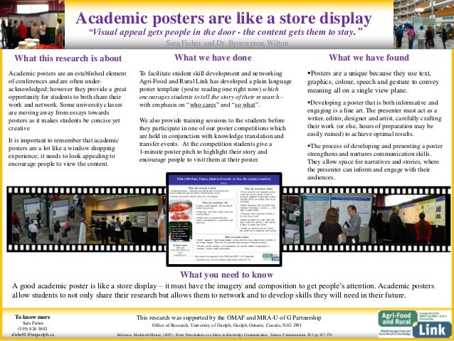 Academic posters are like a store display