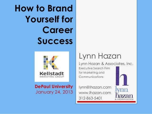 Kmg presentation  brand yourself for career success