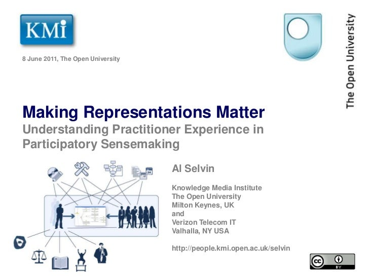 8 June 2011, The Open University<br />Making Representations Matter Understanding Practitioner Experience in Participatory...