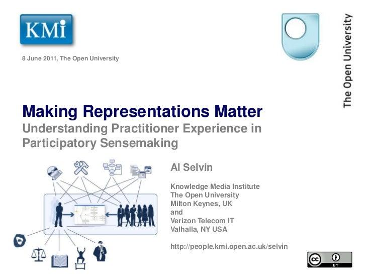 Making Representations Matter: Understanding Practitioner Experience in Participatory Sensemaking