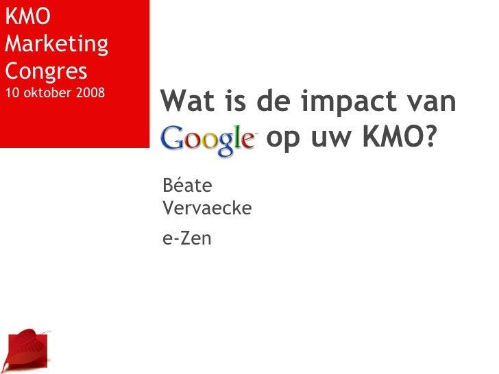 Presentatie KMO Marketing Congres 10 oktober 2008