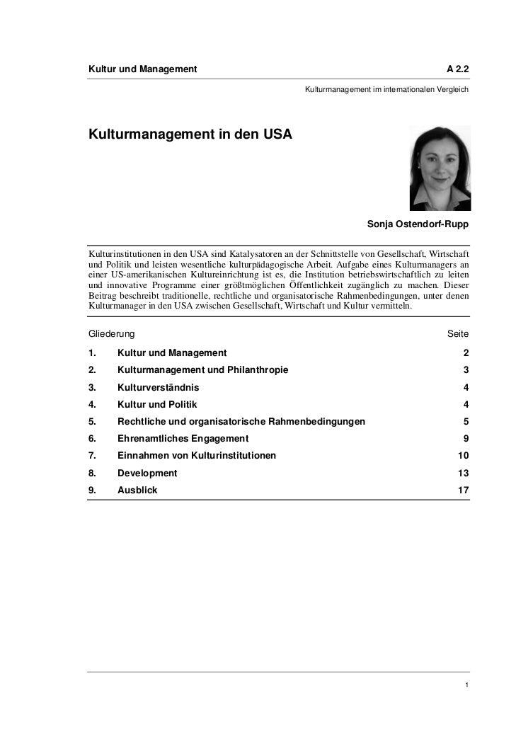 Kultur und Management                                                                         A 2.2                       ...