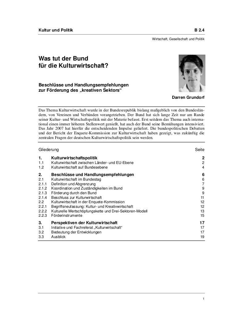 Darren Grundorf: Was tut der Bund für die Kulturwirtschaft?