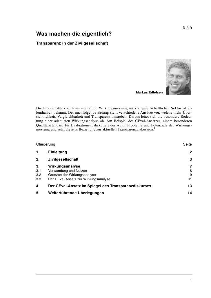 Markus Edlefsen: Was machen die eigentlich? Transparenz in der Zivilgesellschaft