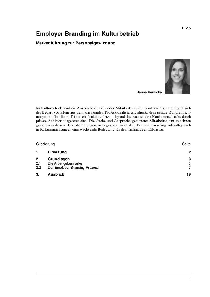 Hanna Bernicke: Employer Branding im Kulturbetrieb. Markenführung zur Personalgewinnung