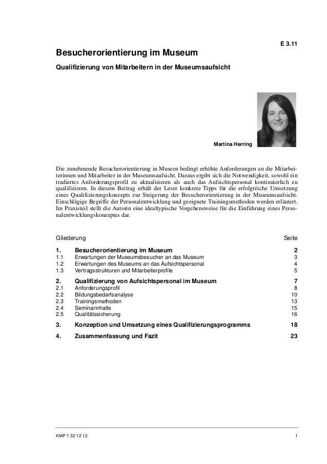Martina Herring: Besucherorientierung im Museum. Qualifizierung von Mitarbeitern in der Museumsaufsicht